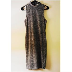 Grey midi body con dress